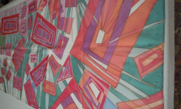 Laboratori di pittura su stoffa e seta  in partenza